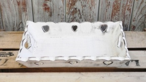 Small Vintage Heart Tray in Distressed Finish